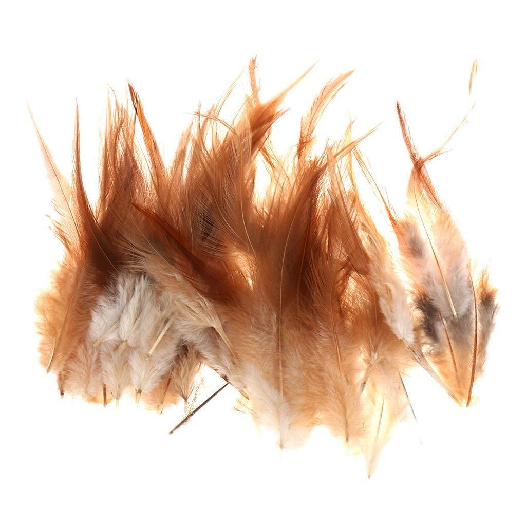 Lyanther Aproximadamente 50 unids teñido de Plumas de Plumas de Gallo para decoración 10-15 Cm Joyería DIY/Manualidades / Accesorios para el Cabello