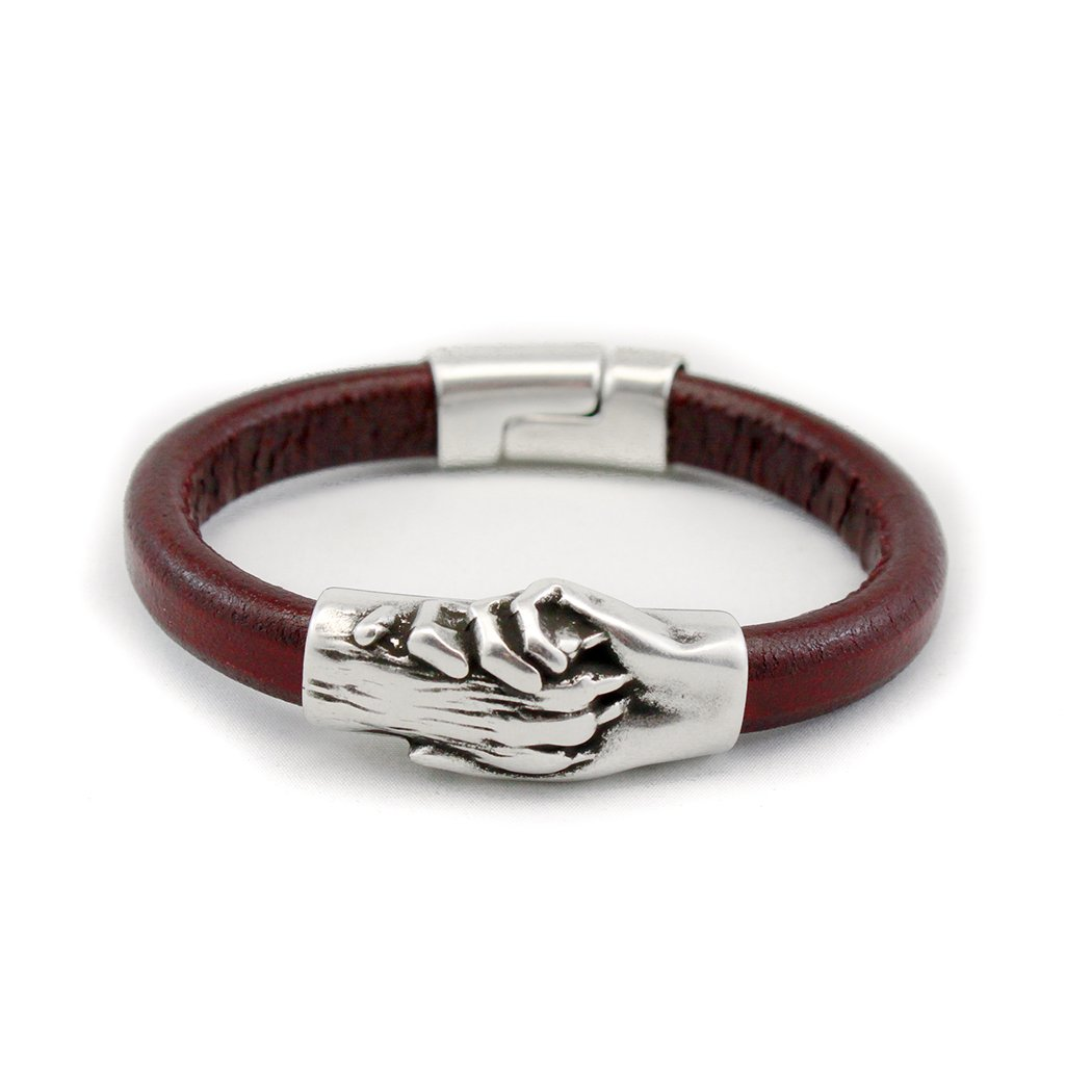 Hand and Paw Project Leather Bracelet, Medium, Bordeaux by Hand and Paw Project (Image #1)