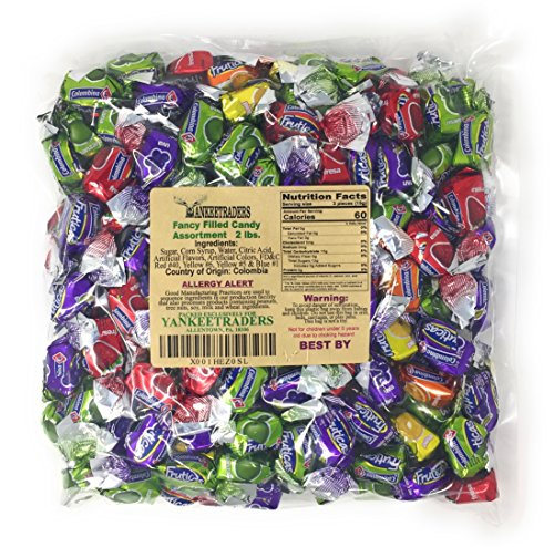 YANKEETRADERS FANCY FILLED FRUIT CANDY ASSORTMENT (2 Pound Pack)