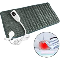 LAYOPO Large Electric Heating Pad, Shoulder Back Neck Soft Heating Pad For Fast Pain Sorness Stress Relief Washable 6 Heat Setting With Auto-Off