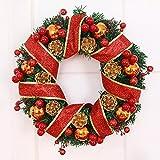 Christmas wreath handmade hotel window door ornaments Christmas decorations