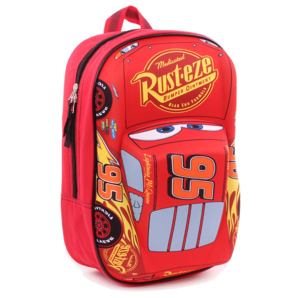 Disney 760–8462 1 x Flash McQueen 'Piston Cup Champion' Effet 3D de Voiture 31 cm Sac à Dos