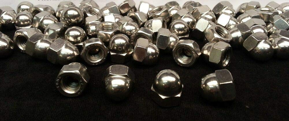 (200) M10-1.5 or 10mm Acorn/Dome/Cap Hex Nut A2 Stainless Steel