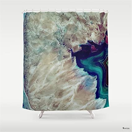 Amazon Weeya Agate Shower Curtain 60 X 72 Inch Home Kitchen
