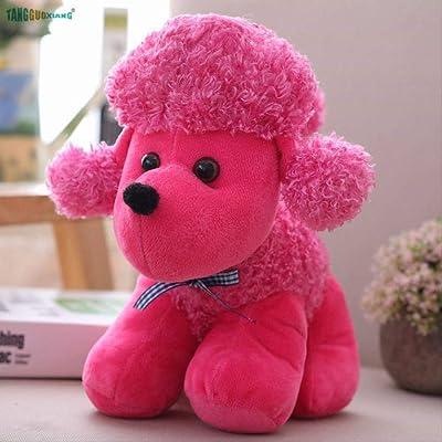 BEST9 Juguete Suave púrpura mardo Felpa algodón Animales Muñecas Juguetes de Felpa Perro cumpleaños 30cm: Juguetes y juegos