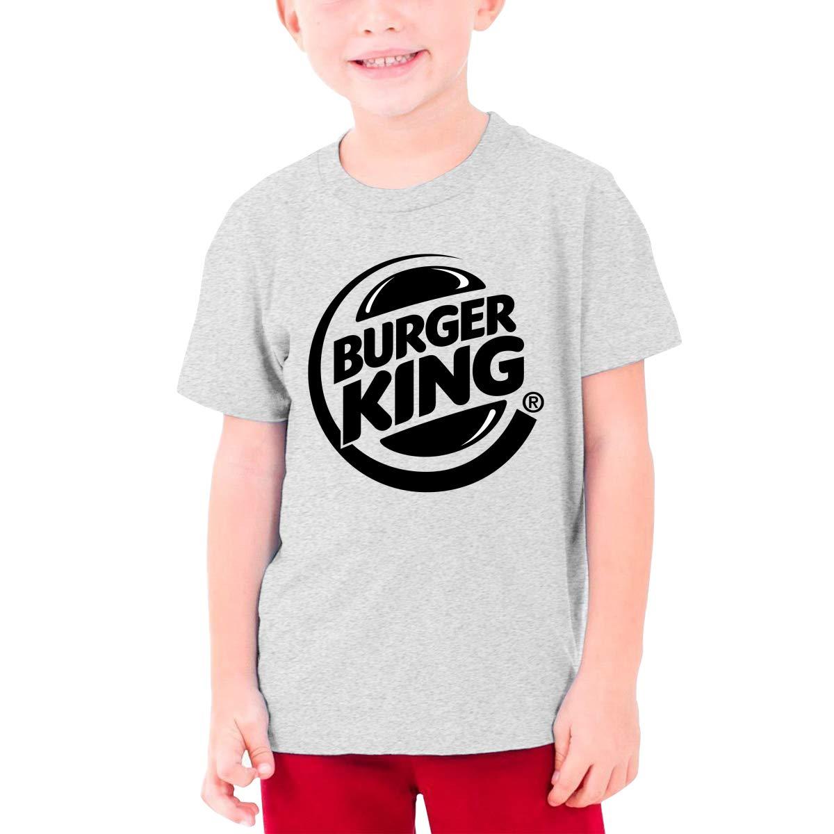 Nyanhif Personalized Burger-King-Logo Black Funny T Shirt Short Sleeve for Minor Black