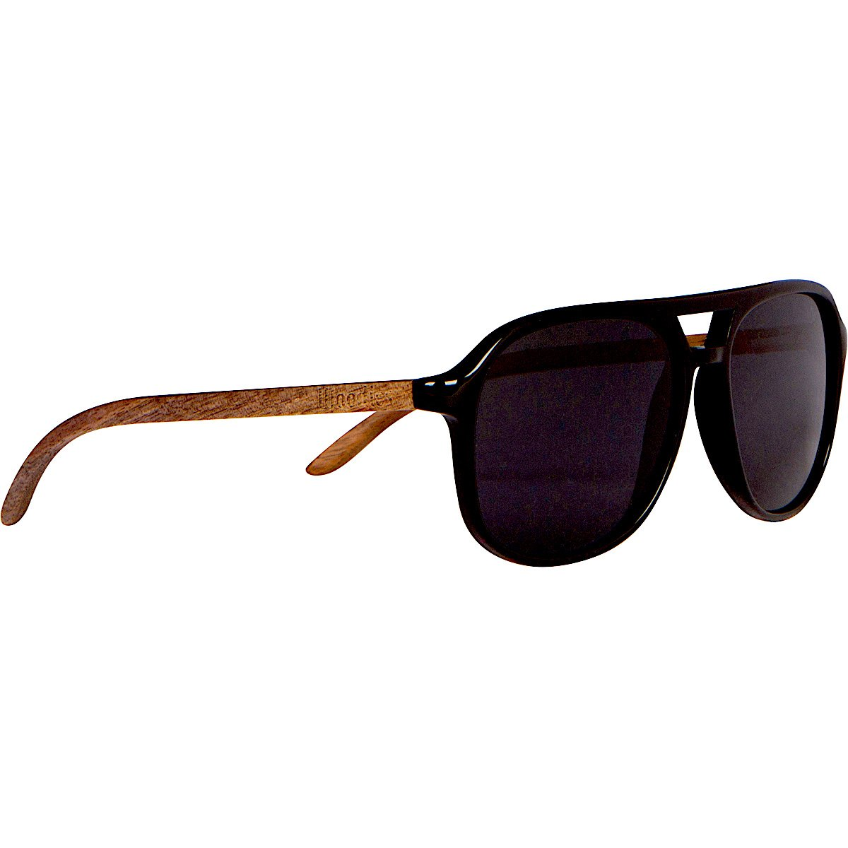 WOODIES Walnut Wood Aviator Wrap Sunglasses with Polarized Lenses for Men or Women