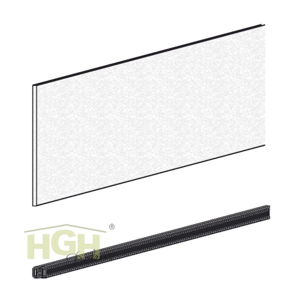 Fenstermodul Acryl 1-fach Set zum WPC Lärmschutz Sichtschutzzaun (schiefer dunkel)