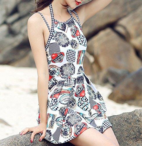 Costumi Bagno Boxer Da Siamese Coppia Costume Spiaggia Set Intero Bianca Per Uomo Donna prpawqO