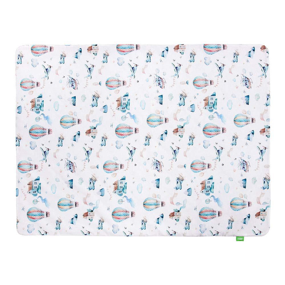 100/% Baumwolle aus der Serie Art Collection Decke LULANDO VELVET Baby-//Krabbel-//Kuscheldecke 75 x 100 cm sleepy doppelseitige Kinderdecke