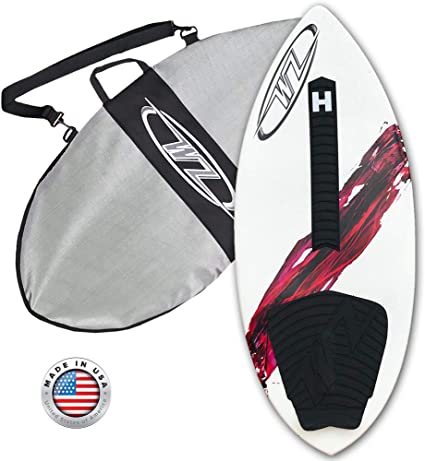 48 Wave Zone SE Carbon /& Fiberglass Skimboard for Riders Up to 200 lbs Complete with Traction Deck Grip
