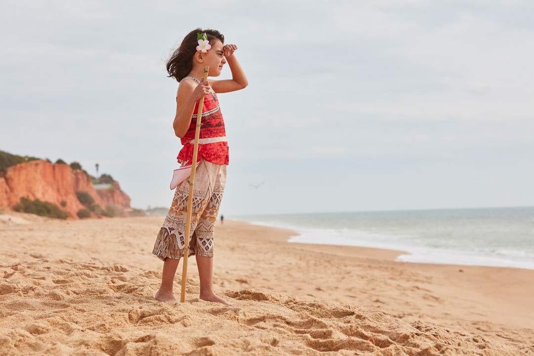 M 5-6 a/ños, 116 cm Rojo//Beige Rubies Vaiana Deluxe Costume Disfraz infantil 630512-M