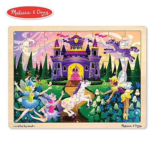Melissa & Doug Fairy Fantasy Wooden Jigsaw Puzzle With Storage Tray (48 pcs) - New Horse Flying