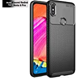 TheGiftKart Rugged Shockproof Carbon Fibre Slim Armour Back Cover Case for Xiaomi Redmi Note 6 Pro (Black) (Limited Period Offer)