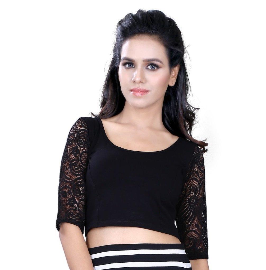 Fressia Fabrics Readymade free Size saree blouse for women party wear choli