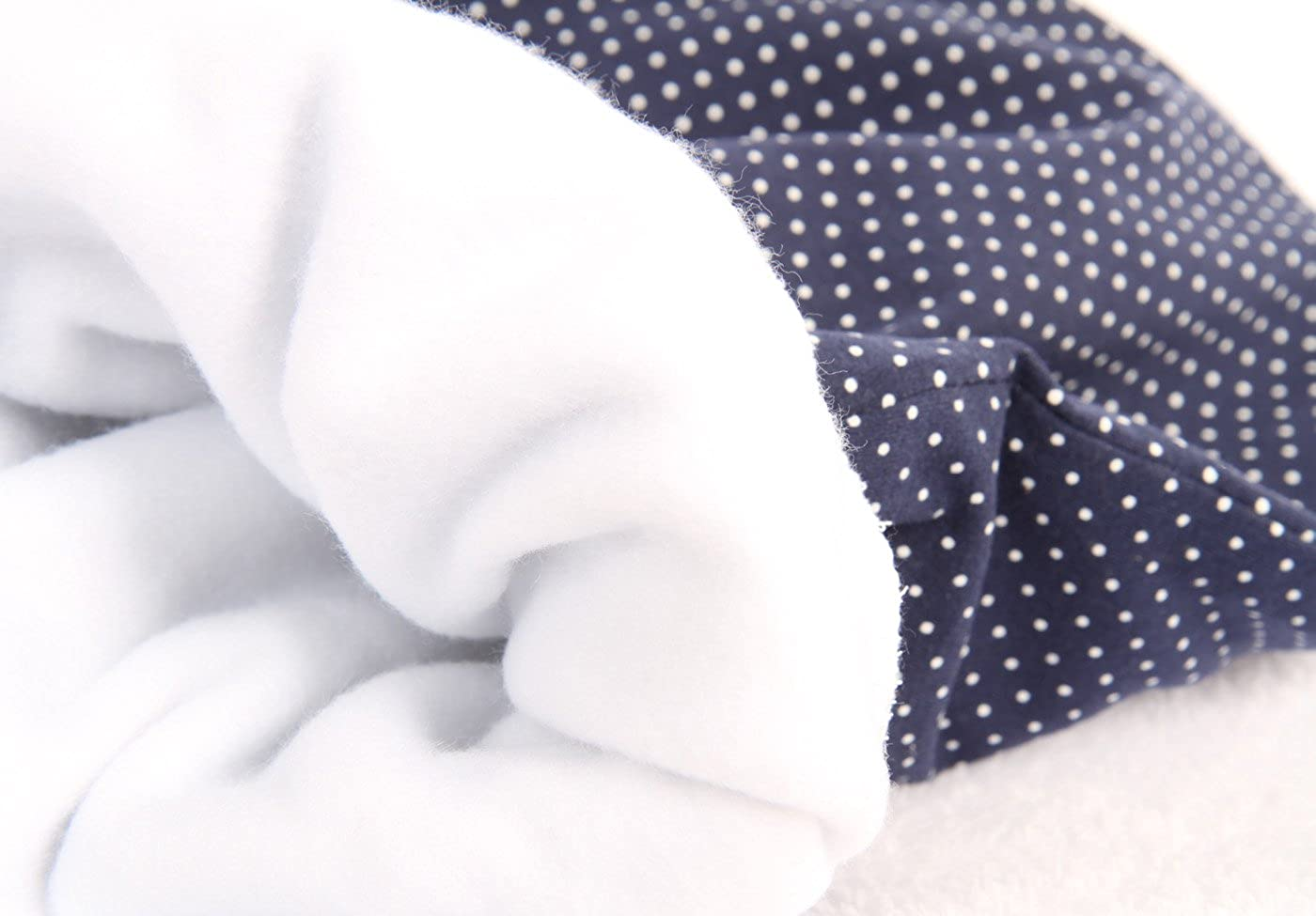 Lilakind Schlafsack Strampelsack Pucksack Fr/ühling//Sommer Punkte Blau Weiss Made in Berlin