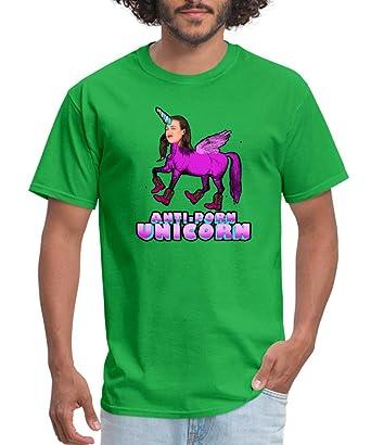 609153541b8 Amazon.com  Spreadshirt Miranda Sings Merch Anti-Porn Unicorn Men s ...