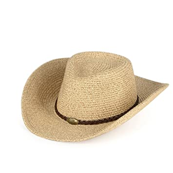Sunny Sombrero para El Sol Verano Hombre Protección Solar Paja Pescador  Sombrero (Color   D 71ded1580083