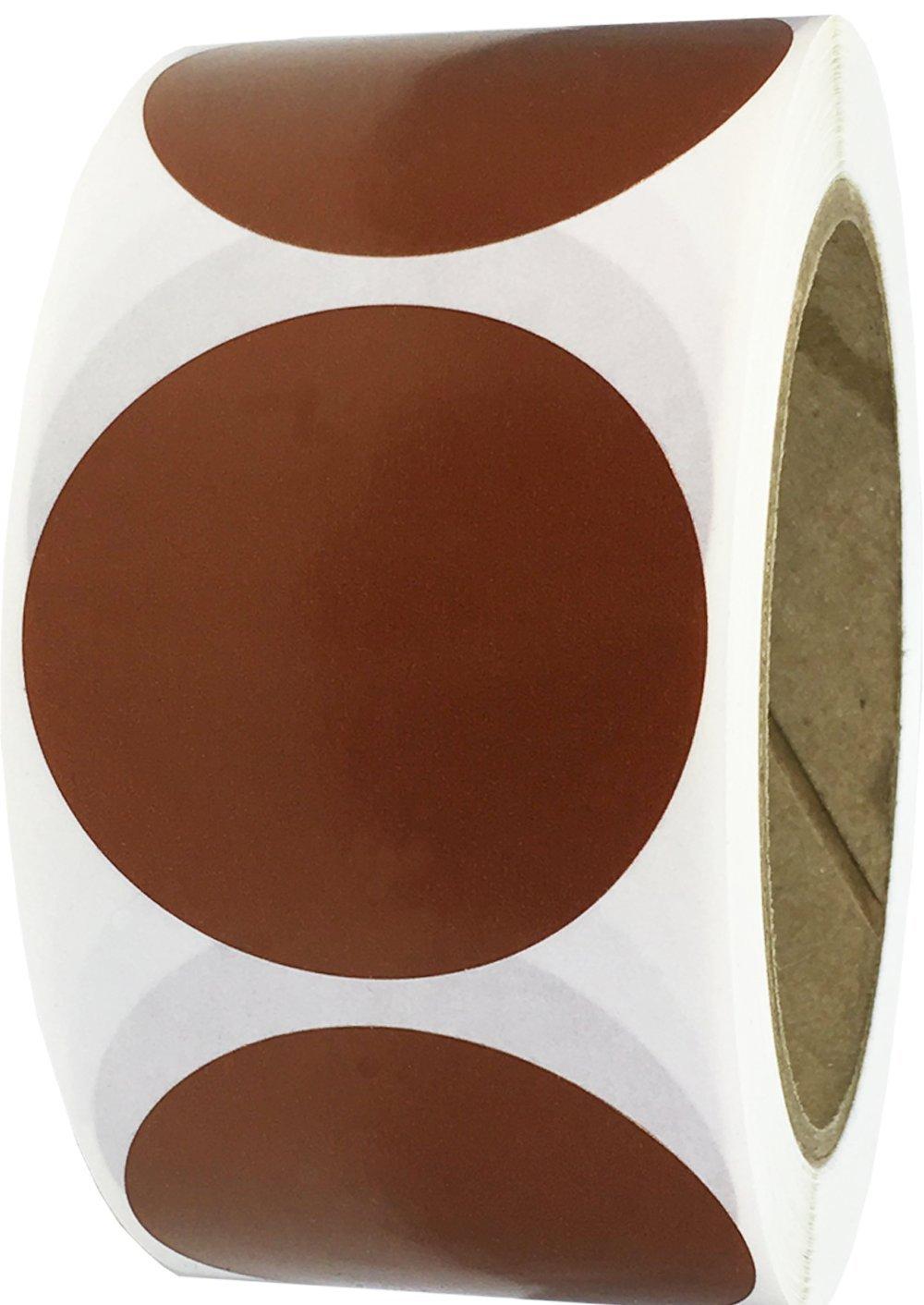 Rosa Lucido Cerchio Punto Adesivi 51 mm 2 Pollici Rotondo 500 Etichette su Rotolo