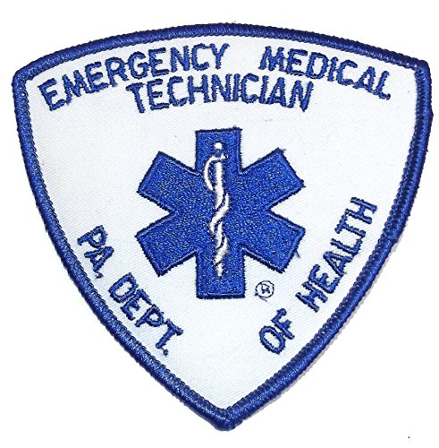 Vintage NOS Emergency Medical Technician Embroidered Cloth Patch PA Dept. of Health