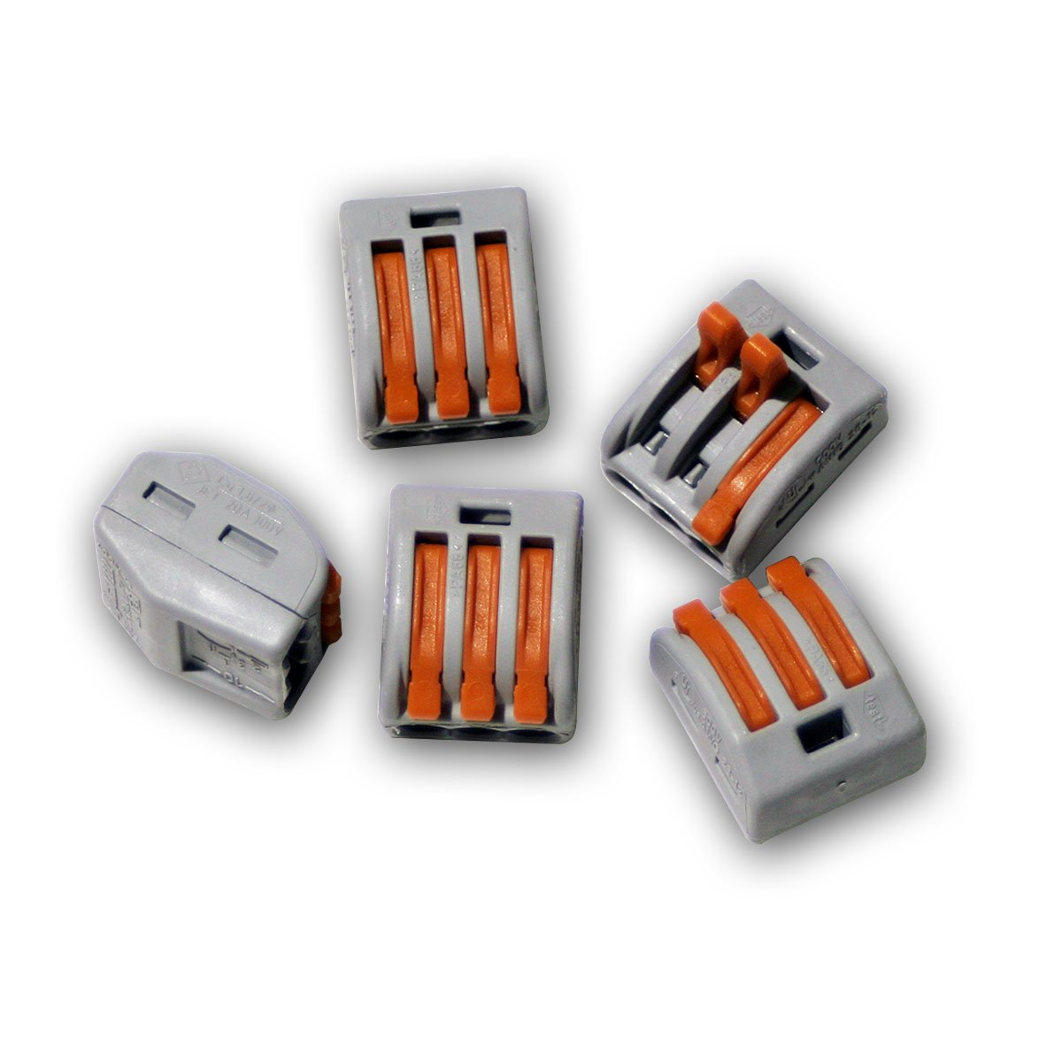 10 x Wago Connector 3 conductors with Betaetigungshebel 0, 8-2,5 MM ² 5 MM ² 222-413