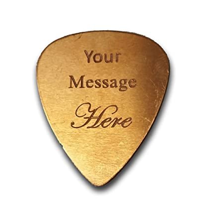 5e4cb3414f8 Amazon.com: Personalized Add Your Own Engraved Text Guitar and Bass Pick  Custom Customizable Gift COPPER (Single Side Engraving): Musical Instruments