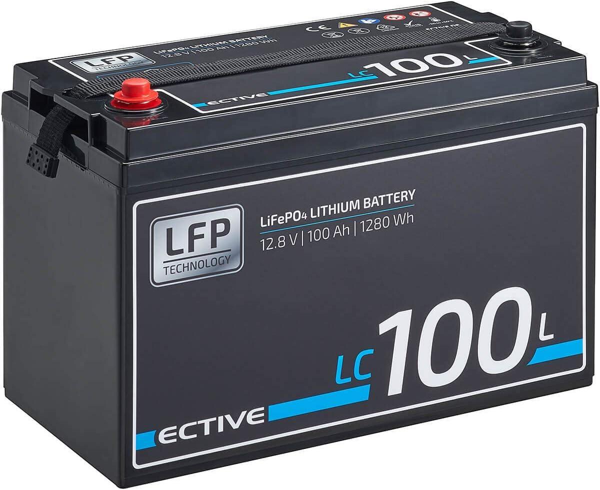 Ective Lc100l 12v 100ah 1280wh Lifepo4 Lithium Eisenphosphat Versorgungs Batterie Mit Bms Auto