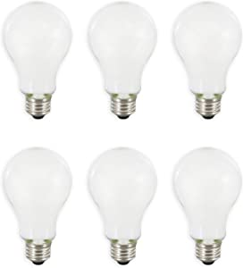 SYLVANIA General Lighting 40810, Soft White SYLVANIA LED A21 Natural Light Series, 100W Equivalent, Efficient 13W, Dimmable, Frosted Finish, 2700K Color Temperature, 6 Pack