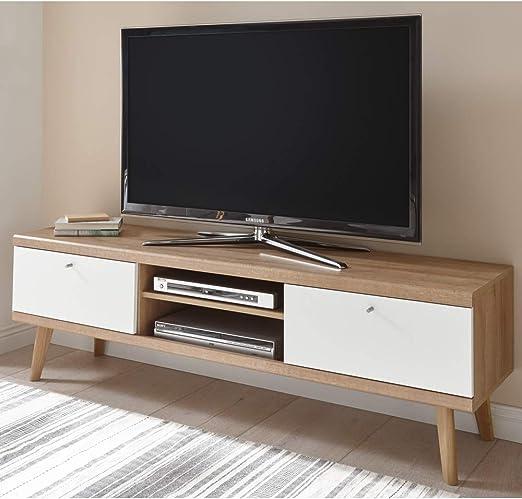 Lomadox - Mueble bajo para televisor (Roble), diseño Retro, Color ...