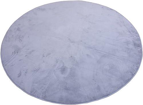 Enerhu Round Area Rug Ultra Soft Shag Carpet Non Slip Floor Mat