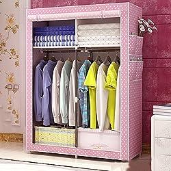 "SKKGN Portable wardrobe, Foldable Children's Dormitory Closet, Moisture-proof Dust-proof-I 41""x18""x59"""