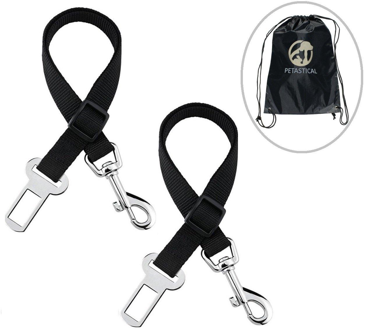 Cinturó n de seguridad para perro, 2 unidades, ajustable, incluye funda para asiento de coche y bolsa de almacenamiento Marod Enterprises Limited PET-BLT-20170712