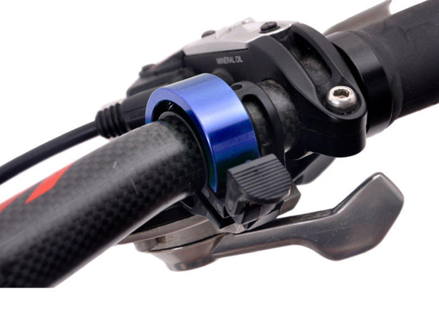 Mtef 自転車ベル 22.2mm-24mm径 バイクリング アルミニウム合金製 ホーンアクセサリー 全六色 B071LCCRK1 ブルー ブルー