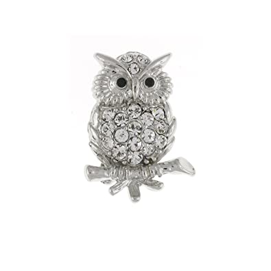 1b33cdbe9a7 Brooches Store Swarovski Crystal Small Owl Brooch: Brooches Store ...