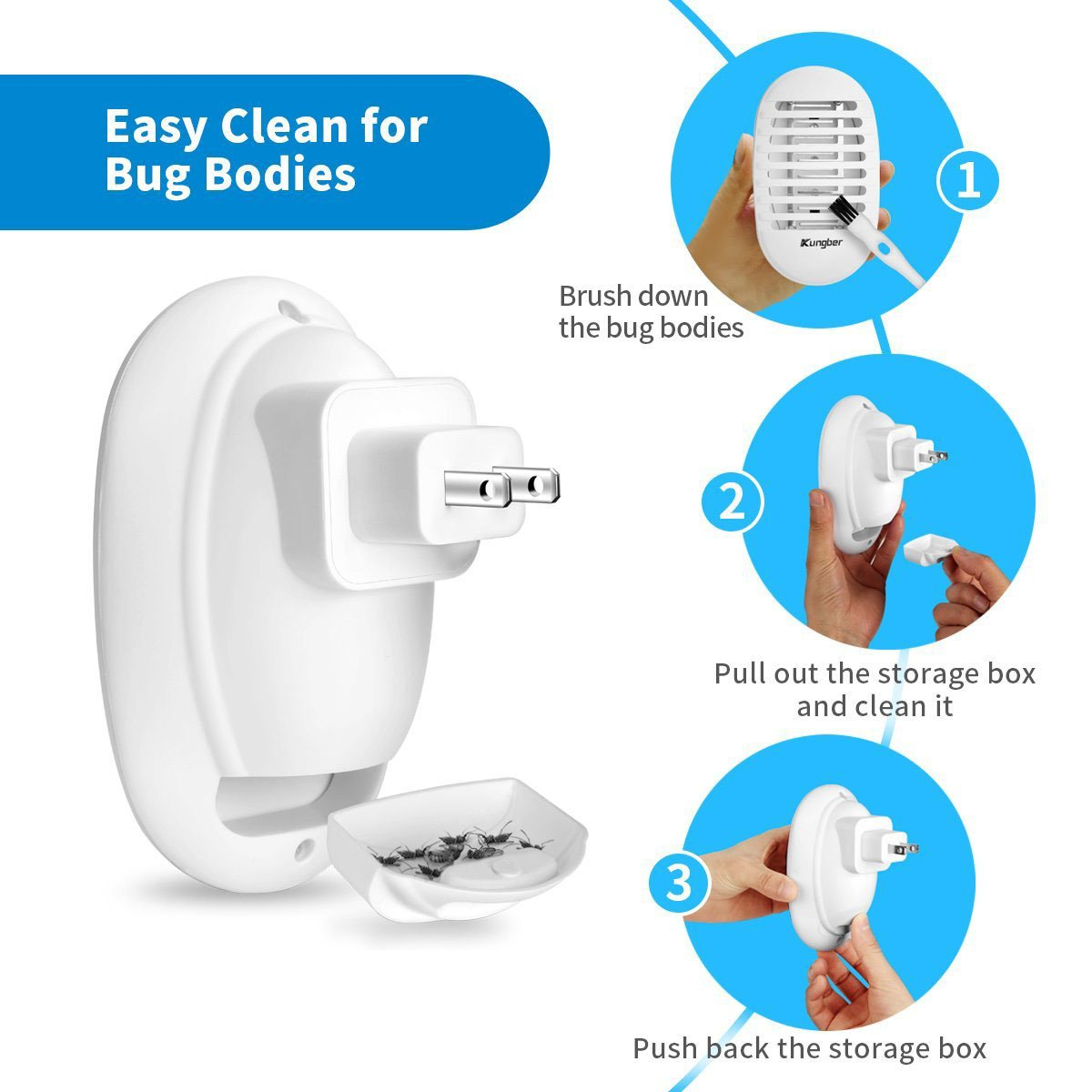 Gugou Bug Zapper Mosquito Killer Indoor Insect Fly Circuit Simple Electronics Lamp Electronic Plug In Repeller Home Use White Garden Outdoor
