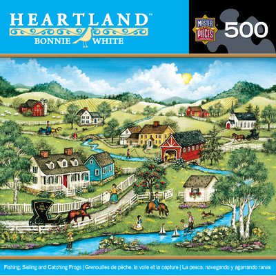 MasterPieces Heartland Collection Fishing, Sailing and Catching Frogs Jigsaw Puzzle, 500-Piece