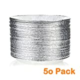 9'' Round Pie Pans (50 Pack) Disposable Aluminum Foil Pie Plates with Board lid, Standard Size, 9'' x 1.25''
