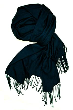 9c0218dcc00b51 Pashmina Schal (blau): Amazon.de: Bekleidung
