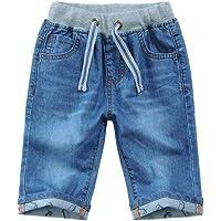 Happy Cherry Pantalones Cortos de Mezclilla para Niños con Bolsillos Jean Bermuda Pantalones de Jean de Corta Edad con…