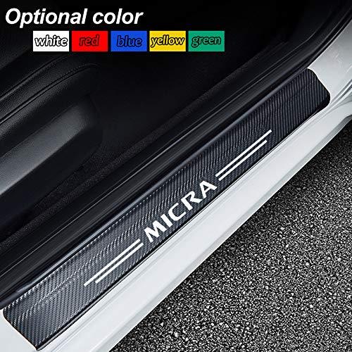 FSXTLLL Auto Soglia della Porta Battitacco Door Sill Sticker Adesivi Batticalcagno per Nissan MICRA Qashqai