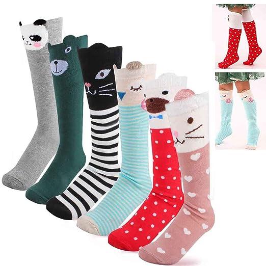 Amazon Com Women S Cotton Thigh High Socks Cartoon Animal Over The