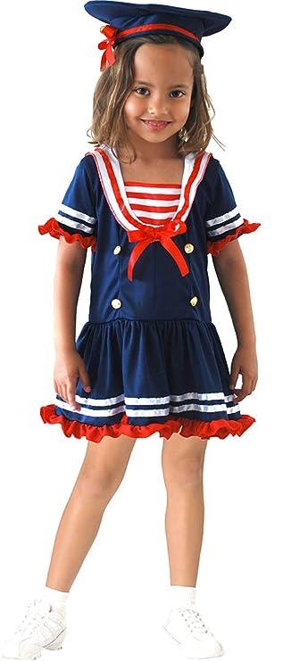 EL CARNAVAL Disfraz Marinera Talla de 8 a 10 años: Amazon.es: Hogar