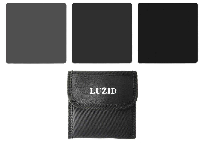 LUŽID 100mm ND Filter Set 3, 6 & 10 Stop MC Multi-Coated Optical Glass Luzid ND8 ND64 ND1000 Neutral Density