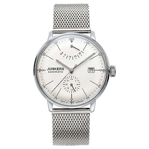 Junkers - Reloj de pulsera analógico automático para hombre acero inoxidable 6060 M5: Amazon.es: Relojes