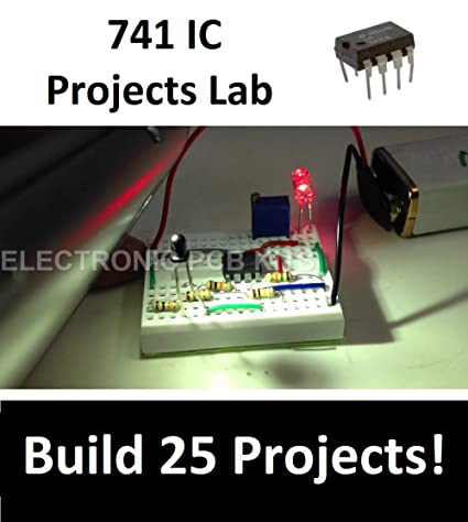 Buy Op Amp 741 IC Projects Lab- 25 Projects Electronic Hobby School ...