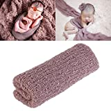 Tinksky Long Ripple Wrap - DIY Newborn Baby Photography Wrap-BAby Photo Props (Lilac)