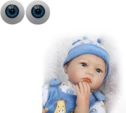 22mm Reborn Doll Half Round Acrylic Eyeballs For BJD OOAK Doll Eyes DIY Toys