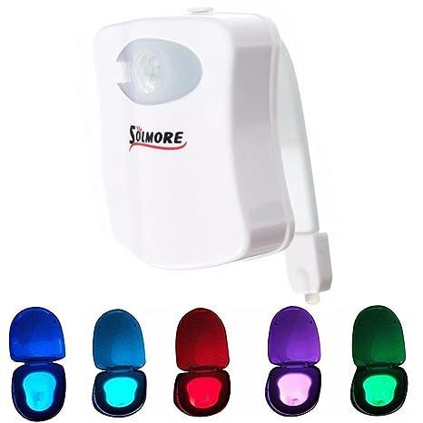 Luz de WC, SOLMORE LED luz led para el Inodoro WC con sensor Movimiento luz