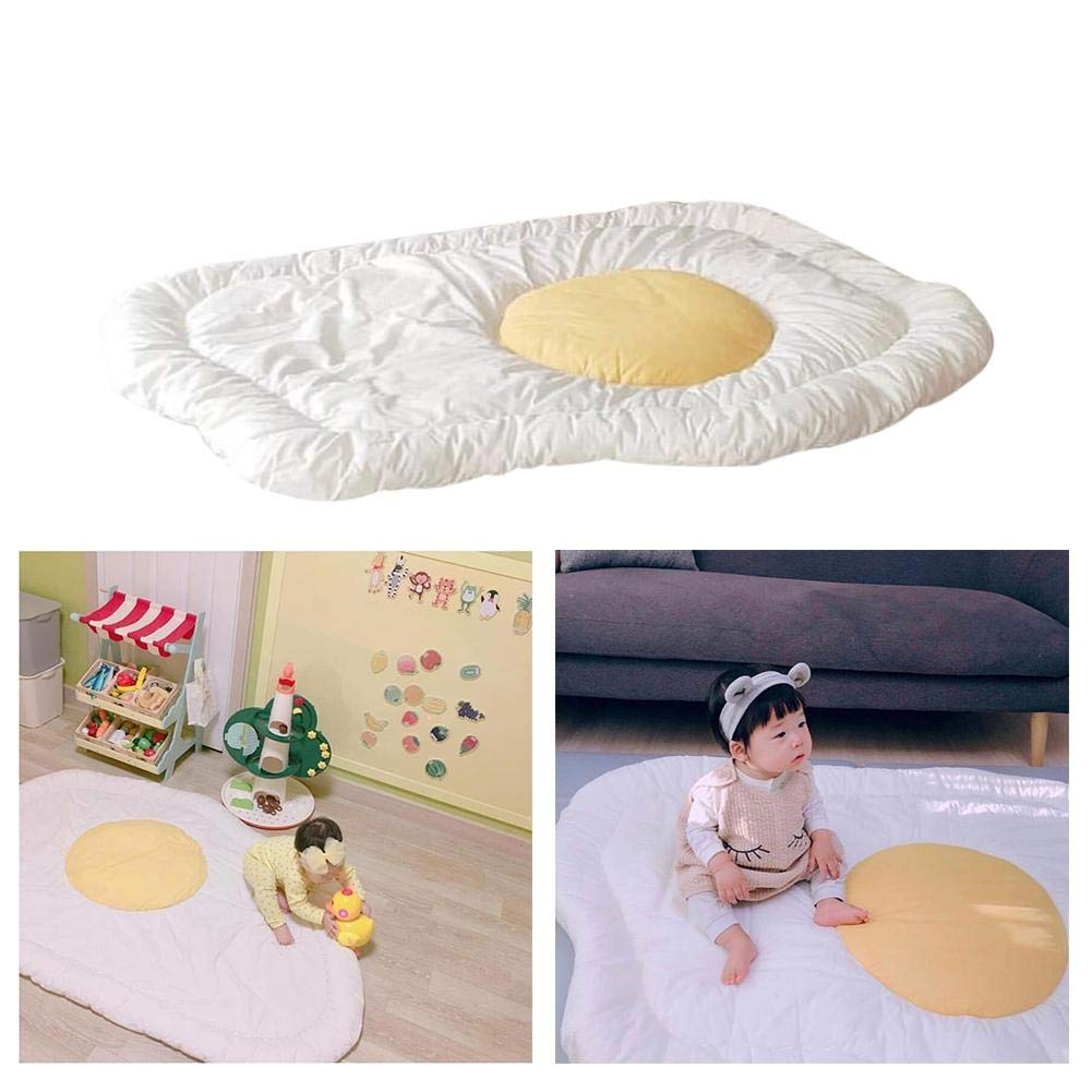 Manta de Juegos para Bebes Acolchada - Terciopelo de Plumas - Ins Egg-Shaped tapete de Juego Alfombra Bebe Juegos para dormitorios - 90x120cm Haodene
