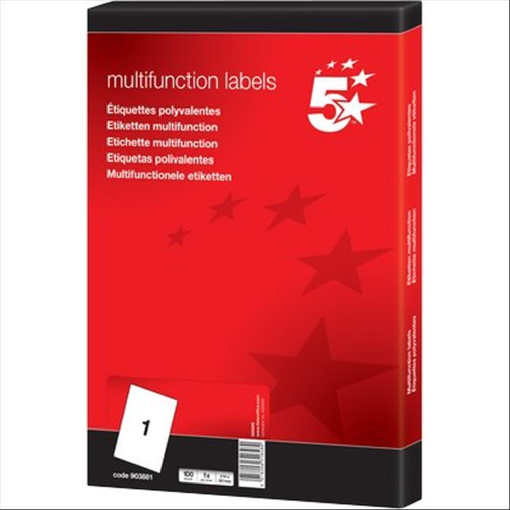 5 Star 912803 Etichetta Multiuso